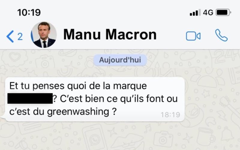 message macron