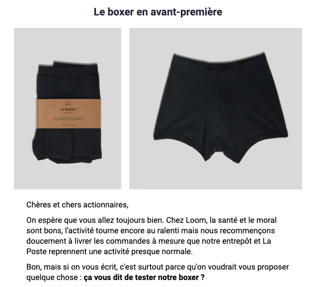 boxer loom email actionnaires