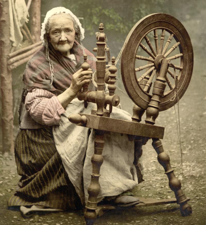 charbon coton loom rouet